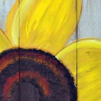 Create Over Cocktails- Sunflower Painting on Wood