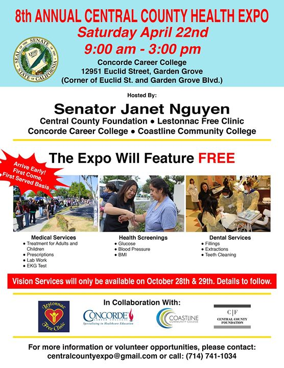 Free Medical And Dental Health Fair In Garden Grove, Ca