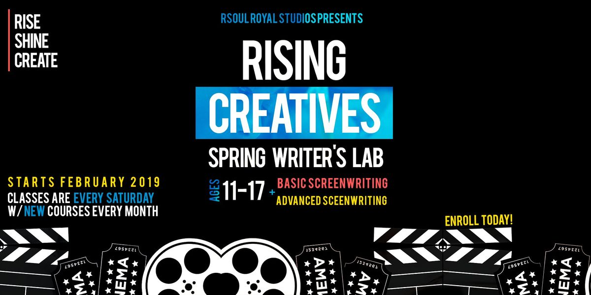 Rising Creatives Spring Writers Lab