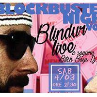 Blindur live  BlockBuster Night 2  Wes Anderson