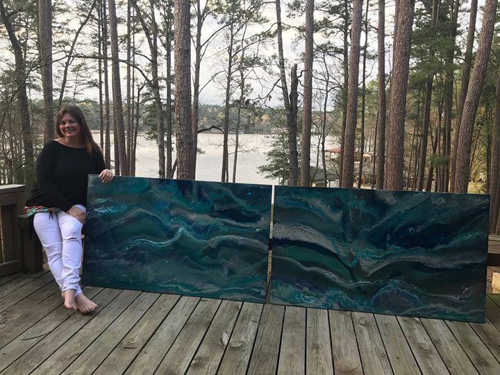 Grapevine Pop Up Art Show by Modern Resin Artist Kelly Gowan