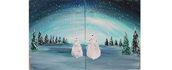 Parent & Child Paint Date Star Gazing Polar Bears