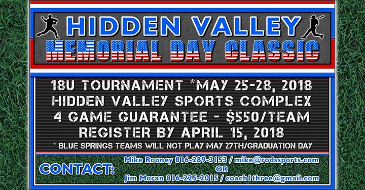 Hidden Valley Memorial Day Classic Blue Springs