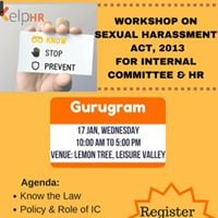 Workshop On PoSH Act 2013 For Internal Committee &amp HR