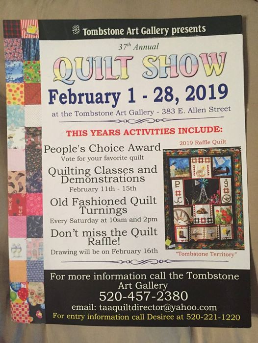 37th Annual Quilt Show At Tombstone Art Gallery 383 E Allen
