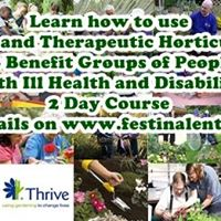 Sold Out - Social and Therapeutic Horticulture 2 Day Course