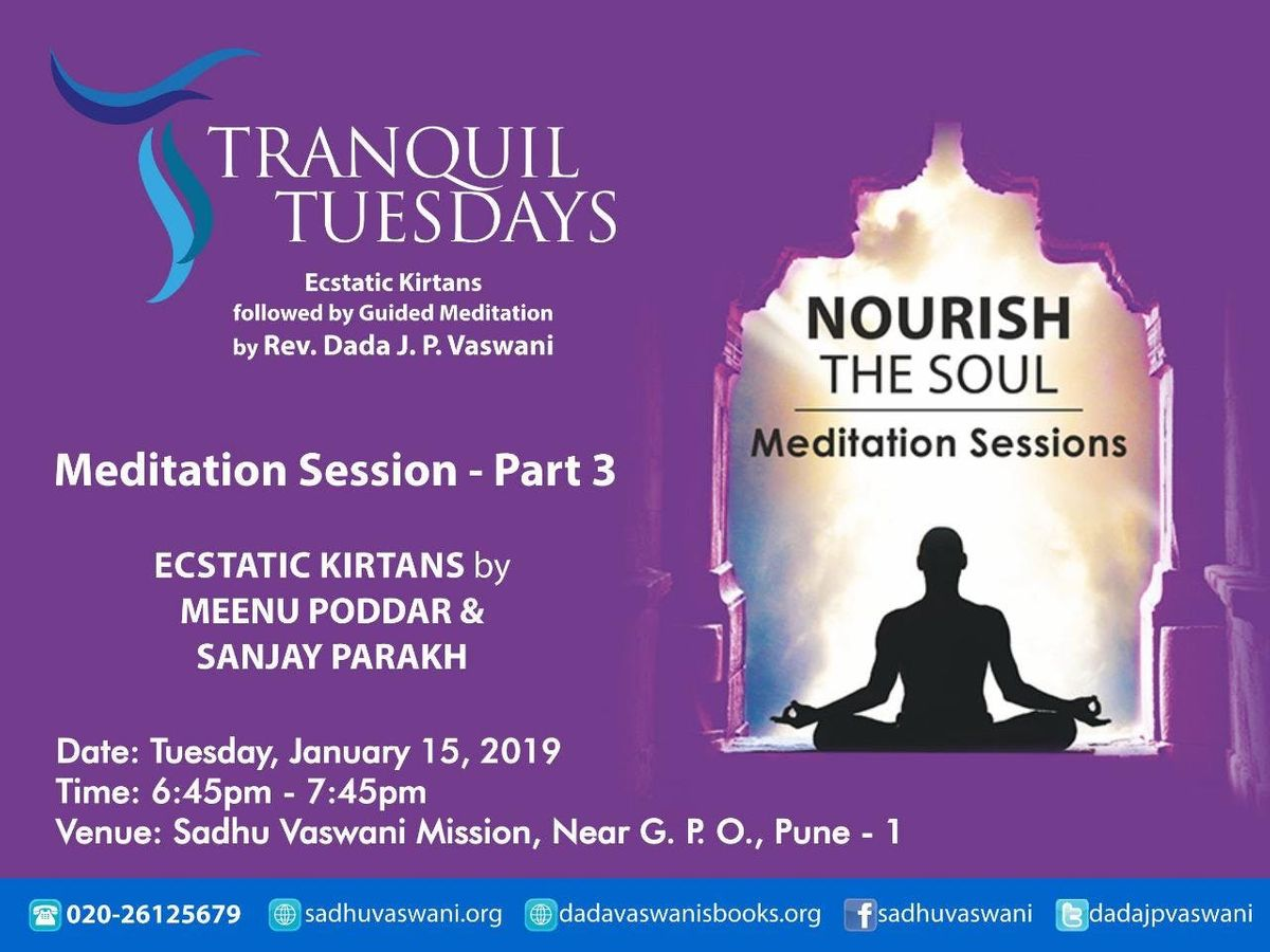 Meditation at Tranquil Tuesdays