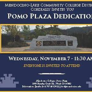 Mendocino College Campus Map.Pomo Plaza Dedication Ceremony At Mendocino College California
