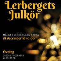 Kom och sjung i Lerbergets Julkr
