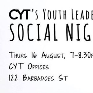 Youth Leaders Social Night  Aug 16