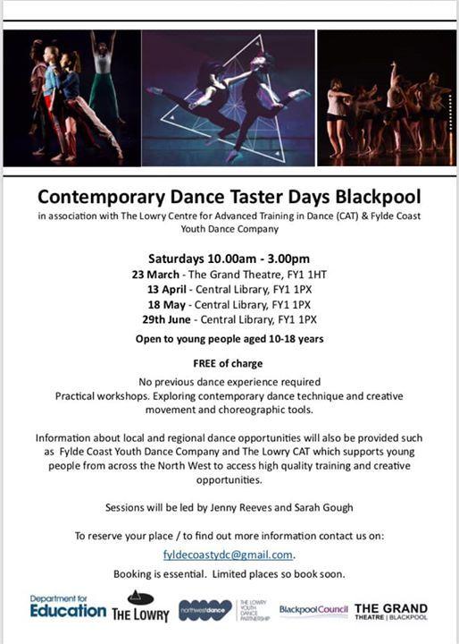 Blackpool Youth dance Taster Workshops