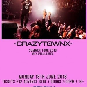 Crazy Town and support rescheduled DATE