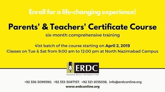 Parents & Teachers Certificate Course - 41st batch