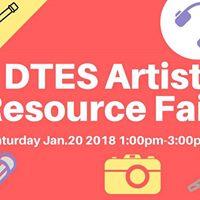 DTES Artist Resource Fair