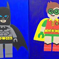 July 27th Batman and Robin Creativity &amp Canvas