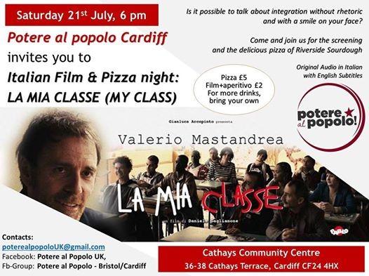 Italian Film & Pizza Night La mia classe (My class)