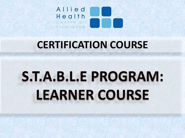 Stable Program Learner Course At Allied Healthcare Centre Of