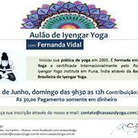 Aulo de Iyengar Yoga com Fernanda Vidal