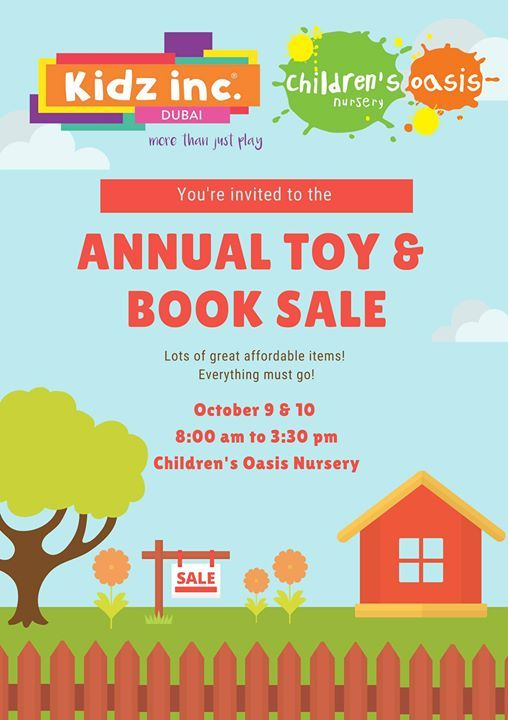 Annual Toy and Book Sale at Children's Oasis Nursery, Dubai