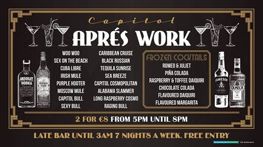 Apres Work Thursday and Friday