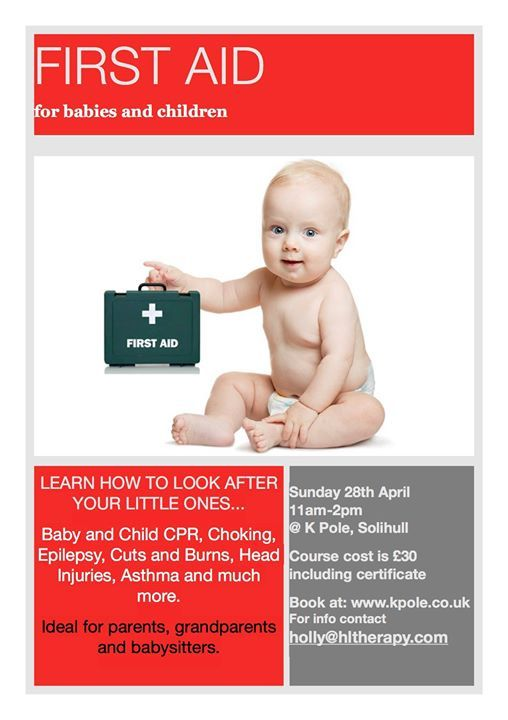 First Aid for Babies and Children at K Pole, Birmingham