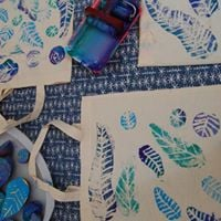Potato Printed Totes with Tracy Bromwich