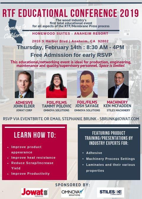 RTF Educational Conference 2019 - Anaheim CA