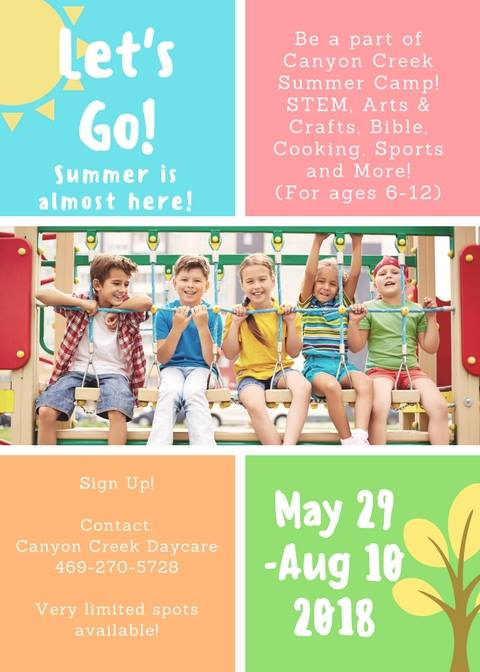 canyon creek summer camp at canyon creek daycare 2800 custer pkwy