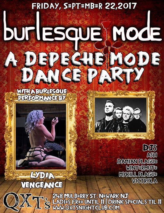 Burlesque Mode Depeche Mode Dance Party Ft Lydia Vengeance At Qxts