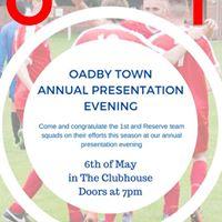 Oadby Town Football Club Annual Presentation Evening