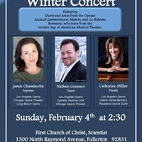Jamie Chamberlin Nathan Granner and Catherine Miller in recital