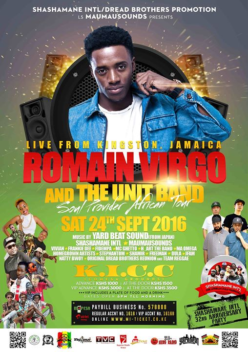 Romain Virgo Soul Provider Kenya Tour 2016 // YARD BEAT