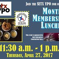 SETX YPO Monthly Membership Luncheon 4-27-17
