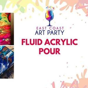 Art Party 0530 - Acrylic Fluid Pour - Charlottetown