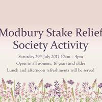 Modbury Stake Relief Society Activity