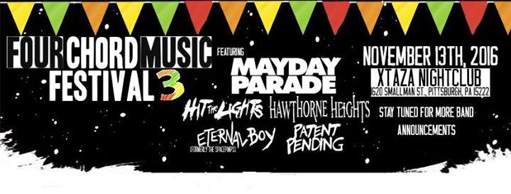 Four Chord Music Fest Feat Mayday Parade At Xtaza Nightclub