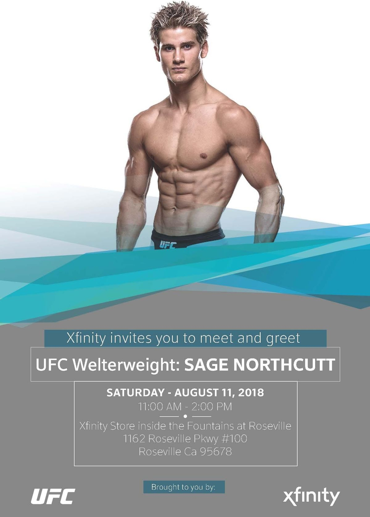 Ufc Meet Greet With Sage Northcutt At Xfinity Store Roseville