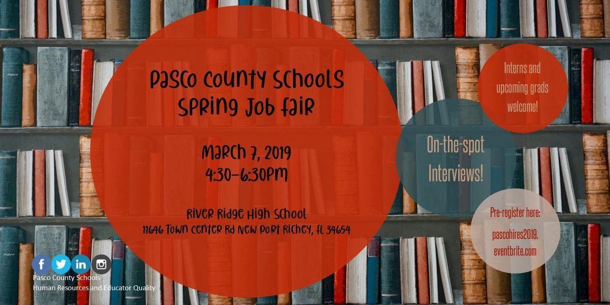 Pasco County Schools Spring Job Fair