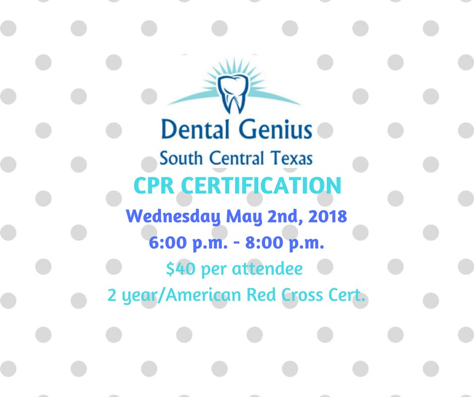 Cpr Certification For The Dental Professional May 2nd 2018 At La