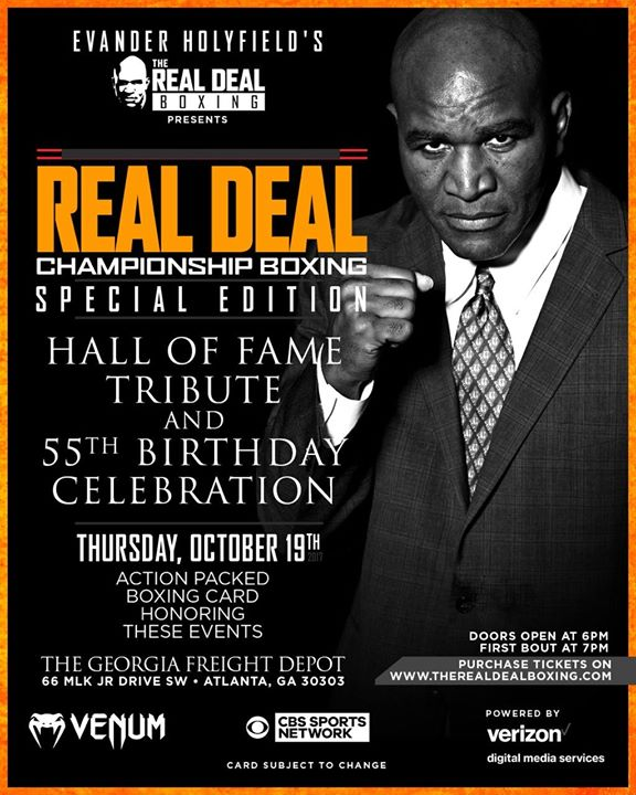 Evander Holyfield Real Deal Championship Boxing