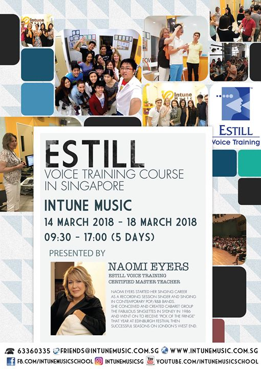 Estill Voice Training Course Presented By Naomi Eyers