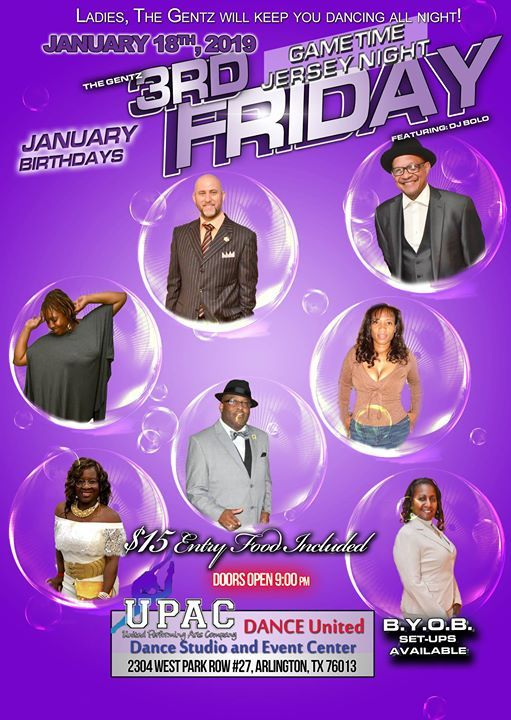 3rd Friday Dancing Team Jersey Night