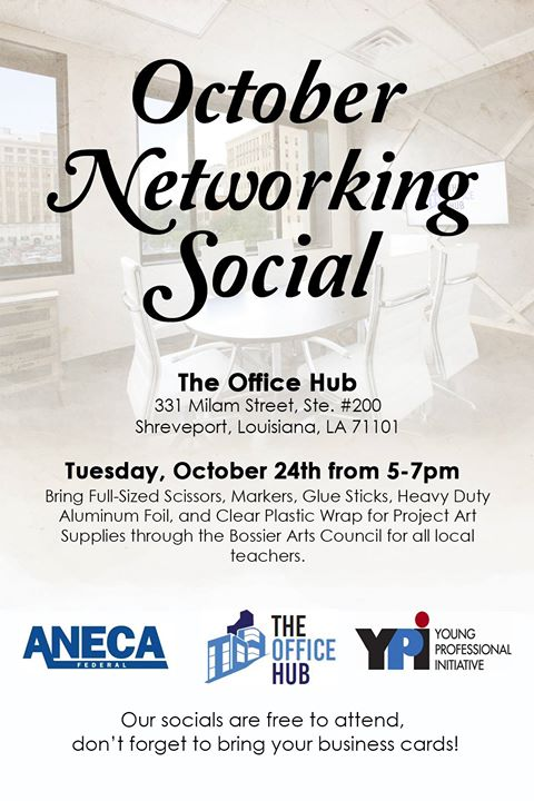 Ypi october networking social at the office hub shreveport shreveport ypi october networking social reheart Images
