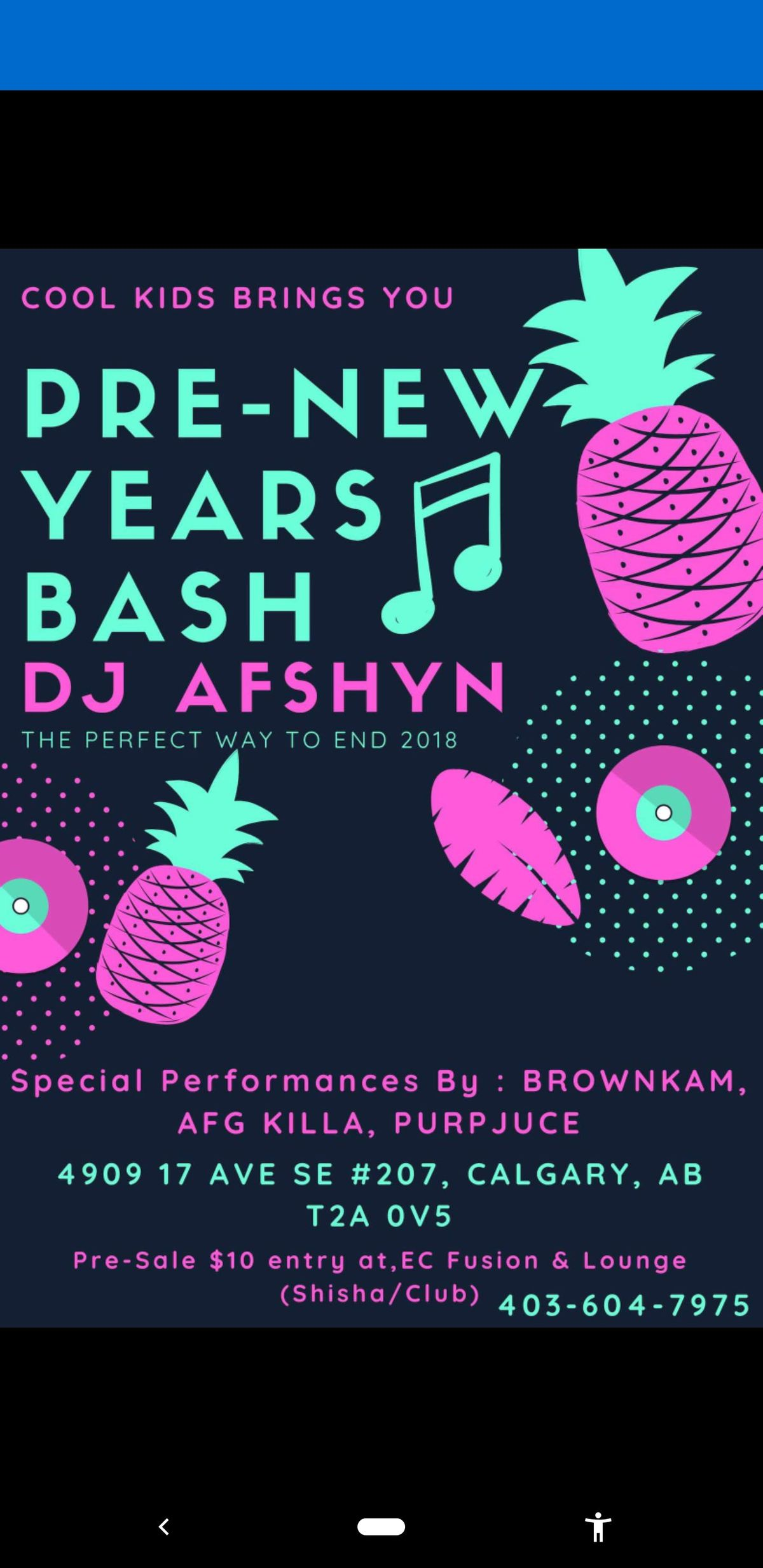 Pre New Years Bash