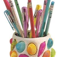 Summer Holiday Activities - Making Clay Pencil Holders