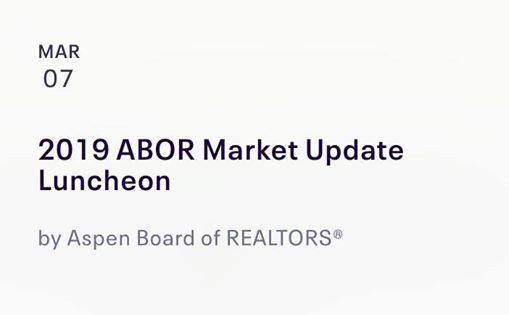 2019 Aspen Board of Realtors Market Update