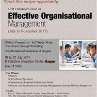 Effective Organisational Management Workshop at Nagpur.