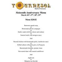 Sixteenth Anniversary of Tournesol