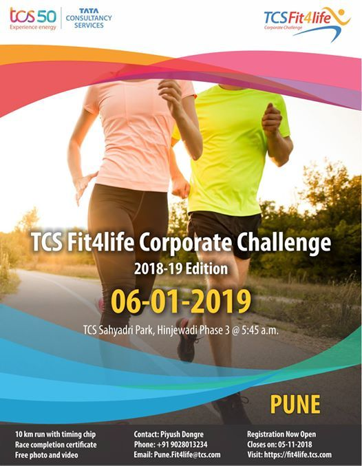 TCS Fit4life Corporate Challenge Pune