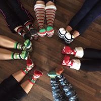 Wear Your Holiday Socks to Yoga Class